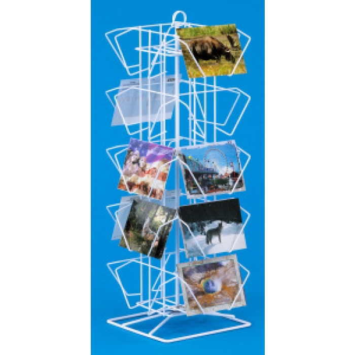 20-Pocket Countertop Postcard Rack (White)