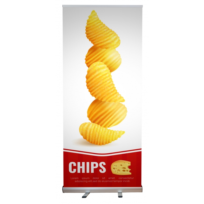 """Economy Retractable Banner Stand for 33.5"""" x 78.75"""" Banners (Single Banner)"""