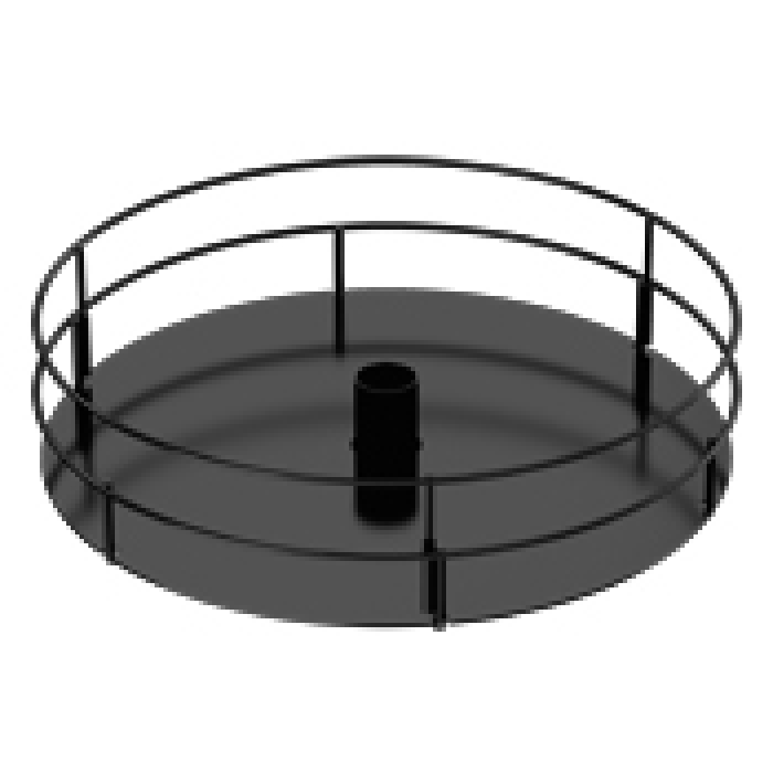 "18"" Diameter Display Tray with 4"" High Double-Rail"