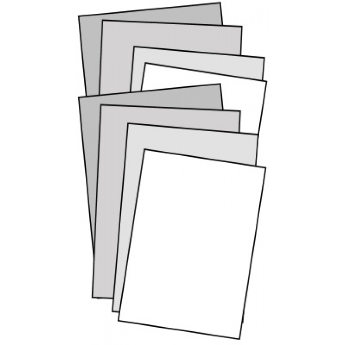 "8 ""Ready-4-Graphics"" White Sign Faces for Springer Sidewalk Signs"