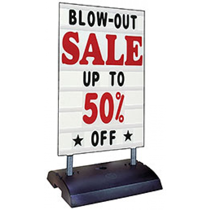 Springer Deluxe Message Board Sidewalk Sign with Changeable Letters (White)