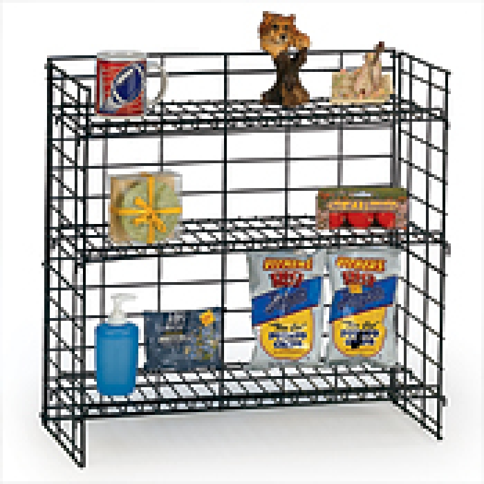 "3 Shelf Fold-Up Countertop Display (24"" Wide)"