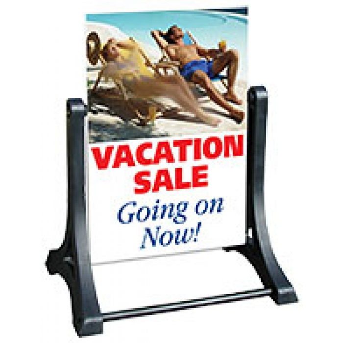 Swinger Ready 4 Graphics Outdoor Display with Sign Blank (White)