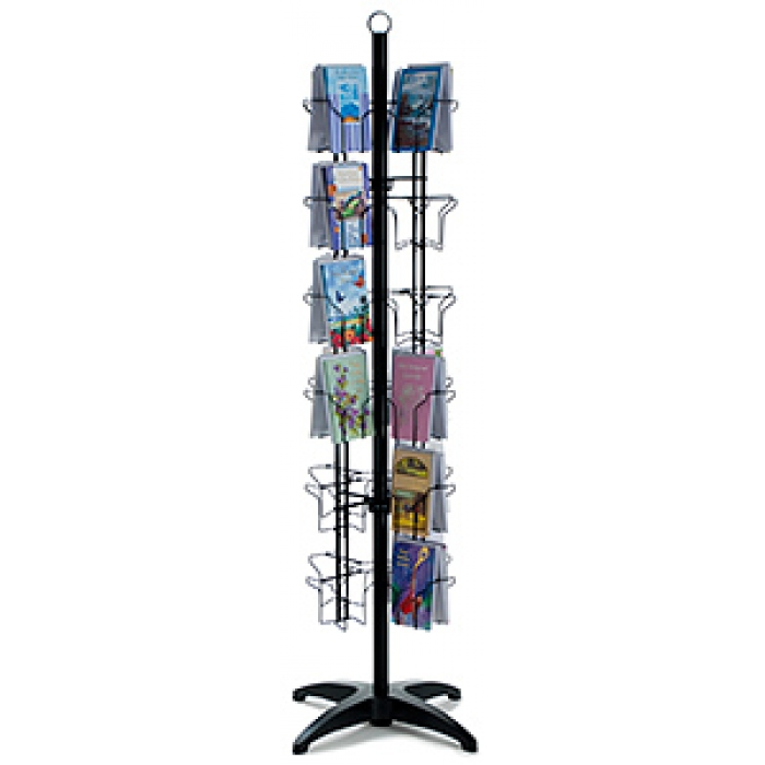 Greeting card display racks in multiple sizes marvolus store fixtures 48 pocket floor greeting card display spinner rack black m4hsunfo