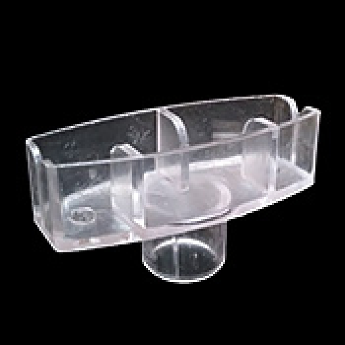 "Plastic Header Card Holder for 0.75"" Tubes (Clear)"