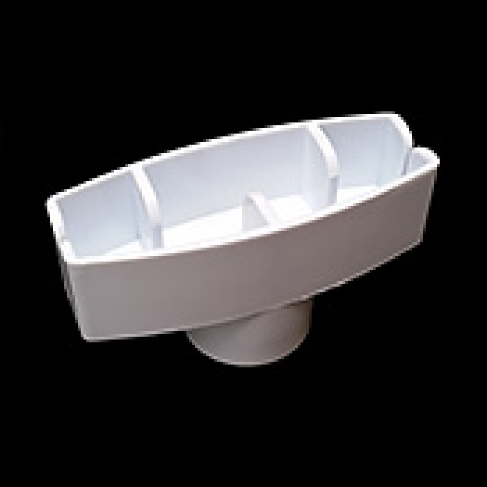 "Plastic Header Card Holder for 1"" Tubes (White)"