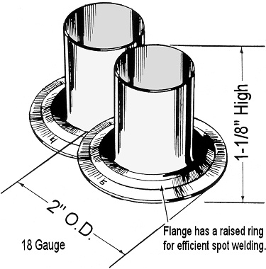 1-piece flanged tube