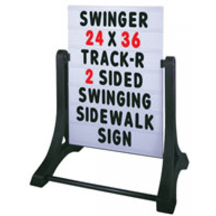 Magic Master RS-SSW-R4G Swinger Roadside Ready 4 Graphics With White Sign Blank White